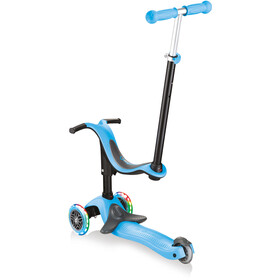 Globber Go-Up Comfort Sporty Plus Lights Scooter with LED Wheels Kids, azul/negro